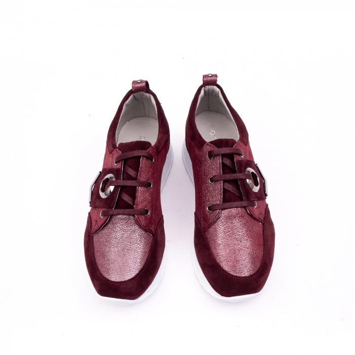 Pantof casual 191651 bordo 6