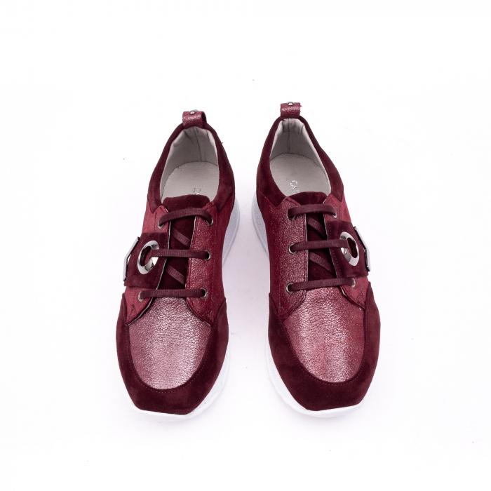 Pantof casual 191651 bordo 4