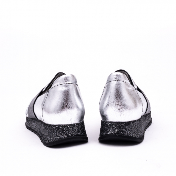 Pantof casual 191652 gri argintiu 6