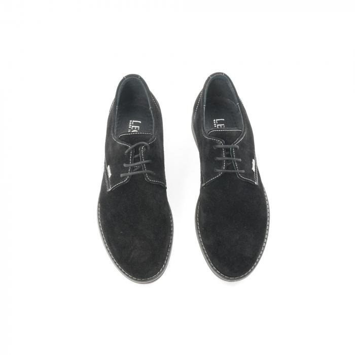 Pantof casual adolescent LFX 578 negru velur 5