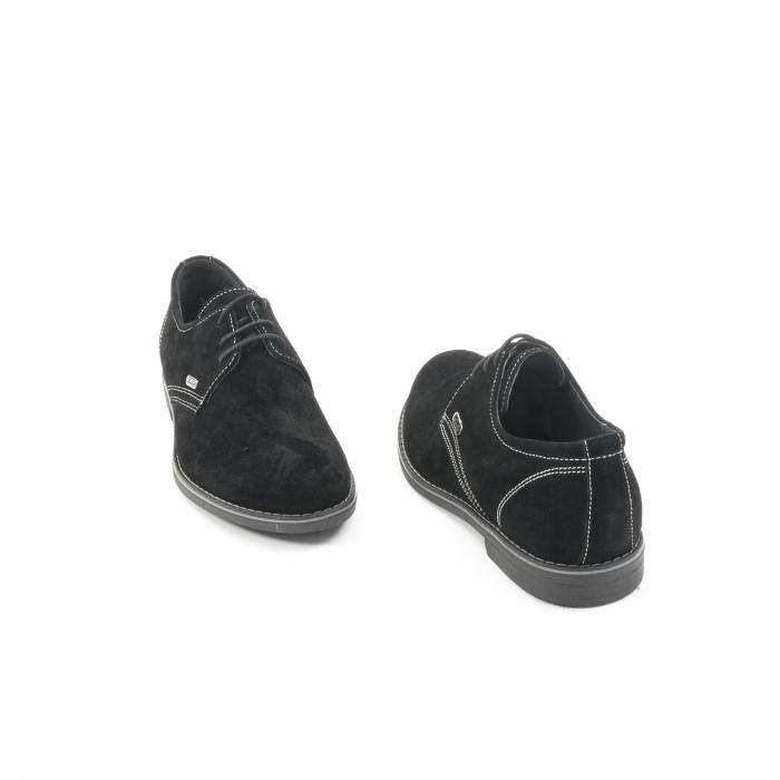 Pantof casual adolescent LFX 578 negru velur 2