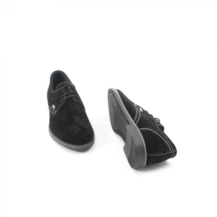 Pantof casual adolescent LFX 578 negru velur 3