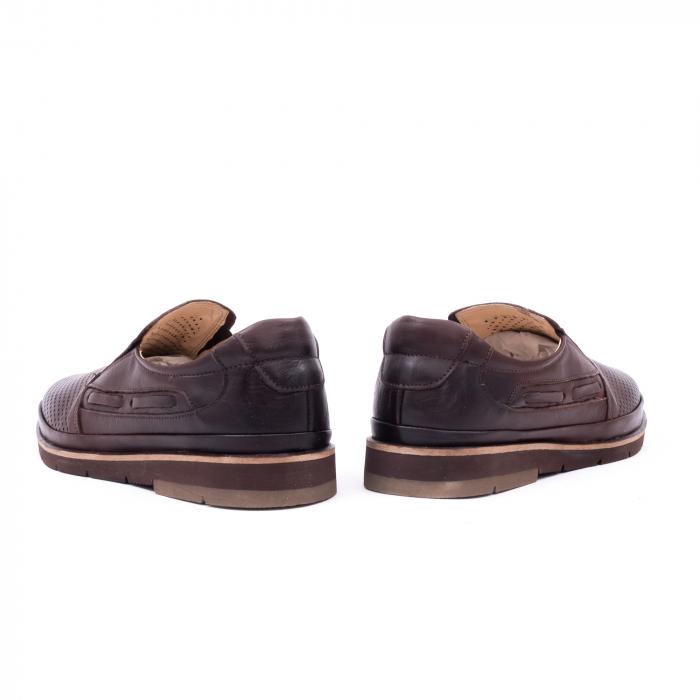 Pantofi barbati casual piele naturala, Catali 191537, maro 6