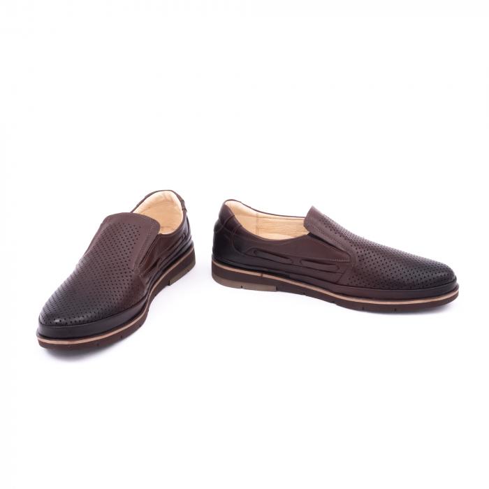 Pantofi barbati casual piele naturala, Catali 191537, maro 4