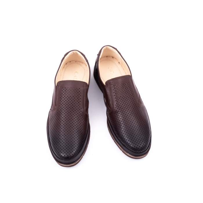 Pantofi barbati casual piele naturala, Catali 191537, maro 5