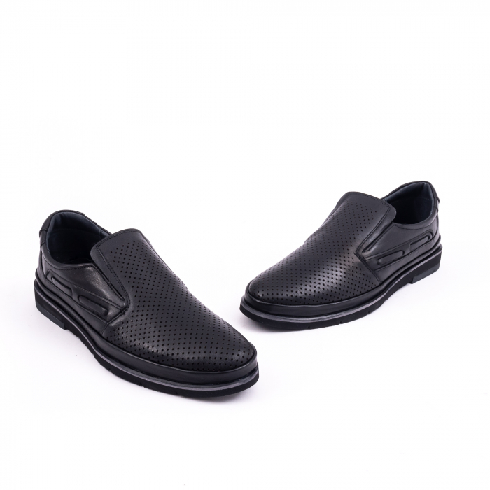 Pantofi barbati casual piele naturala, Catali 191537, negru 1
