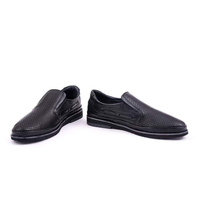 Pantofi barbati casual piele naturala, Catali 191537, negru 4