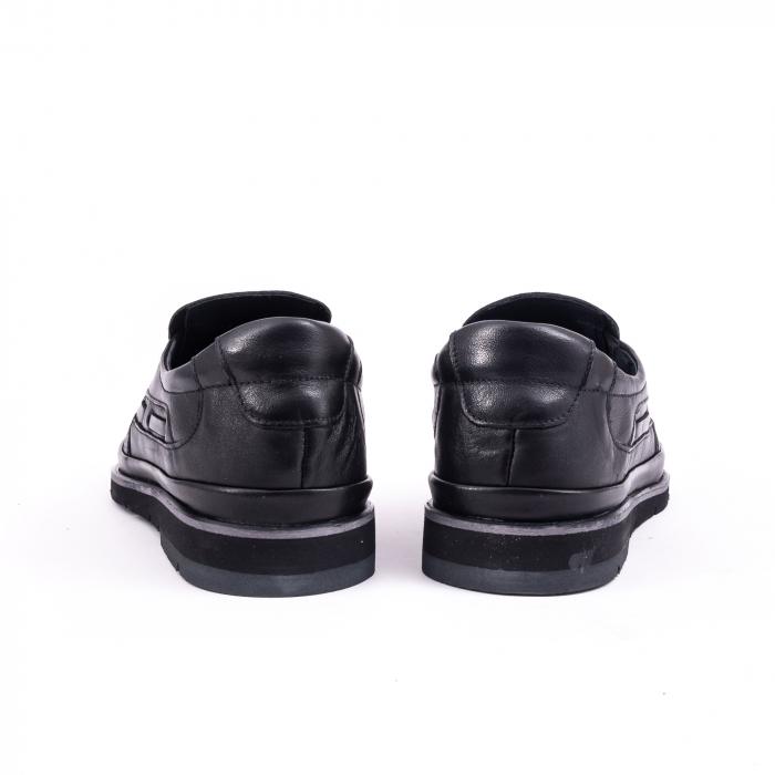 Pantofi barbati casual piele naturala, Catali 191537, negru 6