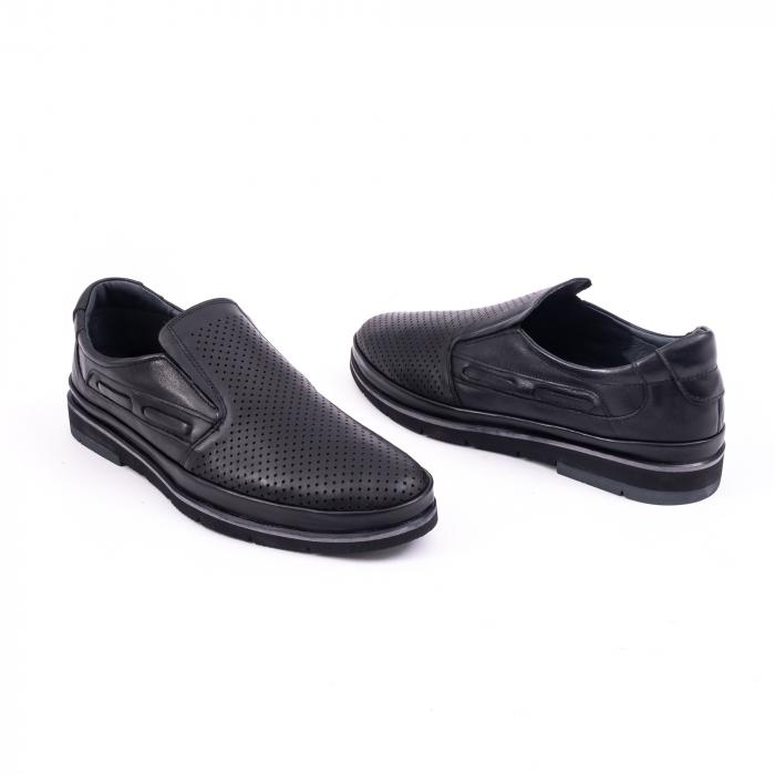 Pantofi barbati casual piele naturala, Catali 191537, negru 3