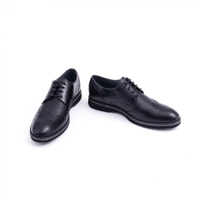 Pantof barbat model Oxford - CataliShoes 181584CR negru 4