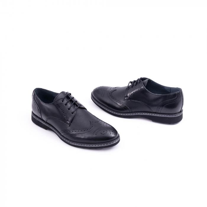 Pantof barbat model Oxford - CataliShoes 181584CR negru 1