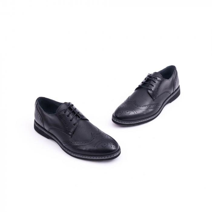 Pantof barbat model Oxford - CataliShoes 181584CR negru 2