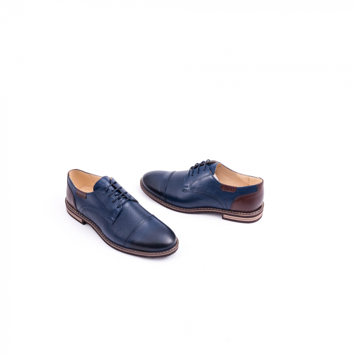 Pantof casual barbat CataliShoes 181594CR bleumarin 3