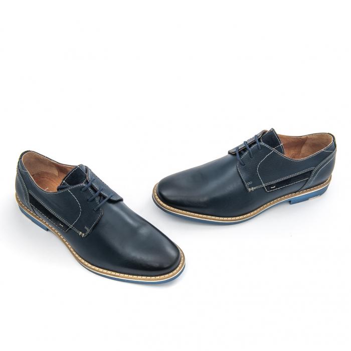 Pantof casual barbat LEOFEX,cod 845 blue