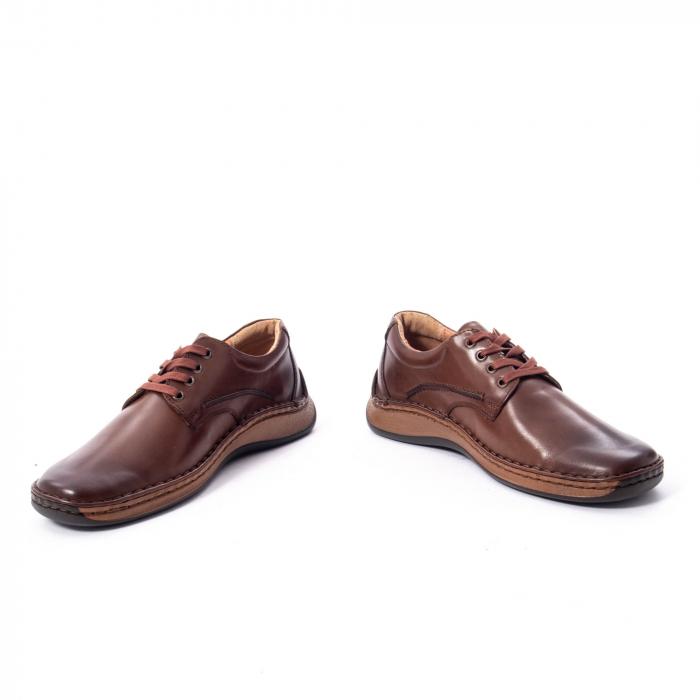 Pantofi Leofex 918 casual barbat piele naturala, maro 4