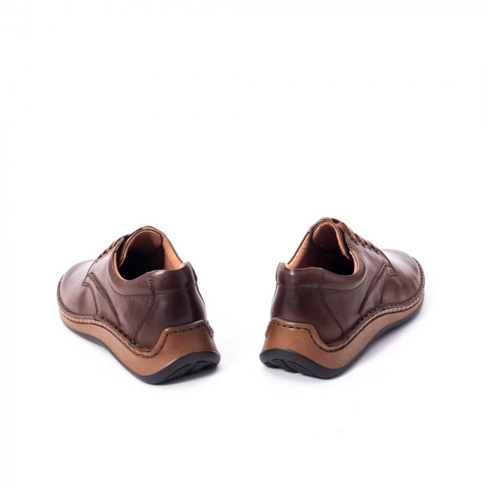 Pantofi Leofex 918 casual barbat piele naturala, maro 6