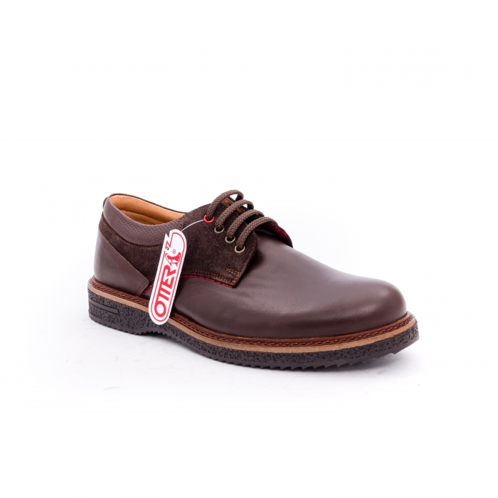 Pantofi barbati casual piele naturala Otter 020 C4 maro 0