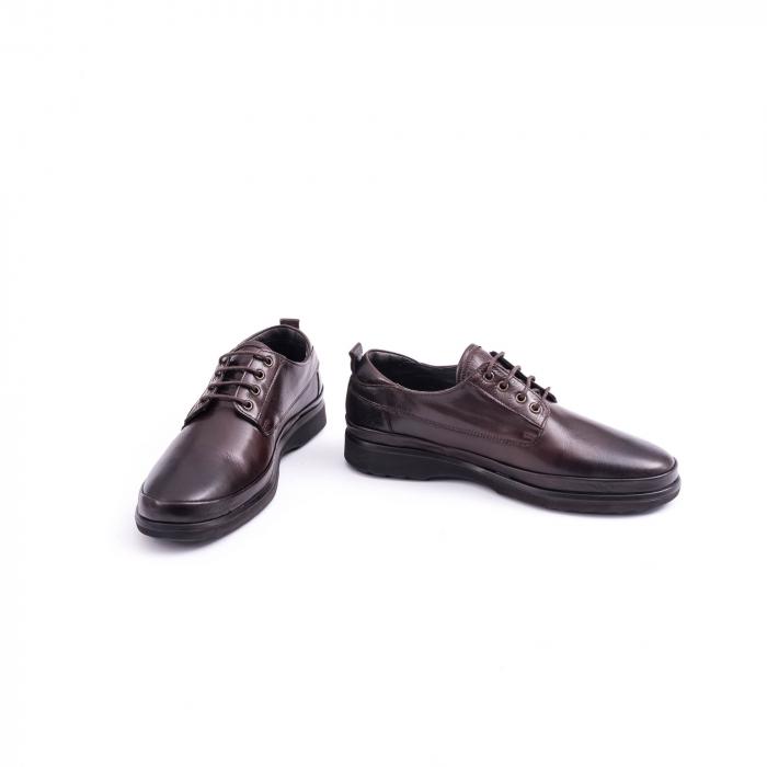 Pantofi barbati casual piele naturala, Catali 182506 star, maro 3