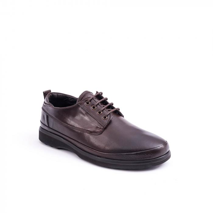 Pantofi barbati casual piele naturala, Catali 182506 star, maro 0