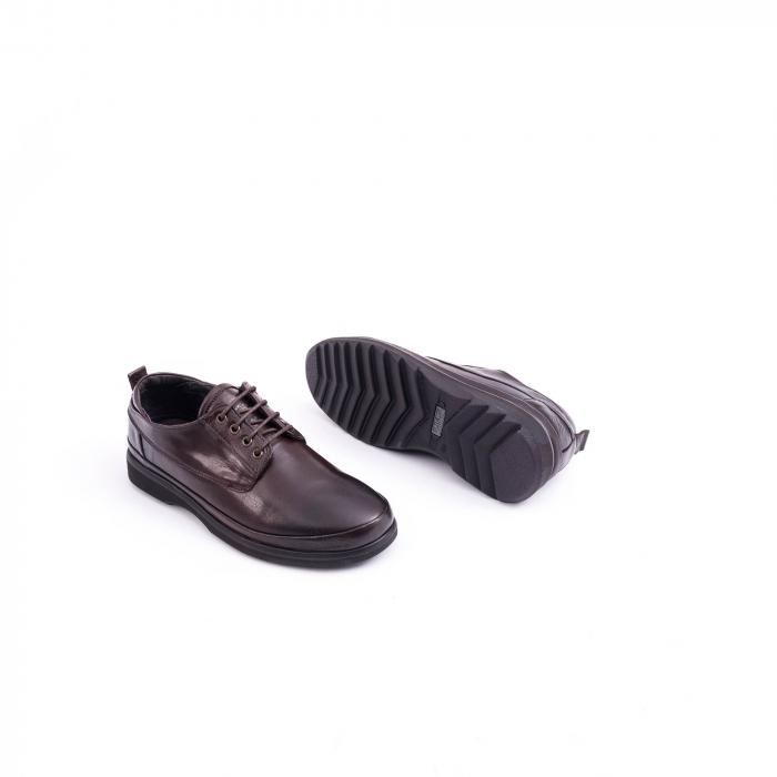 Pantofi barbati casual piele naturala, Catali 182506 star, maro 2