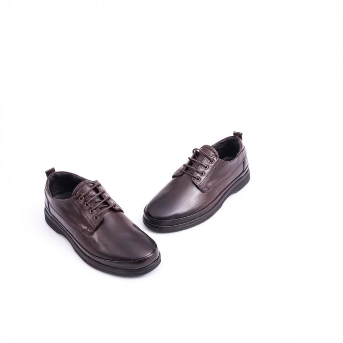 Pantofi barbati casual piele naturala, Catali 182506 star, maro 1