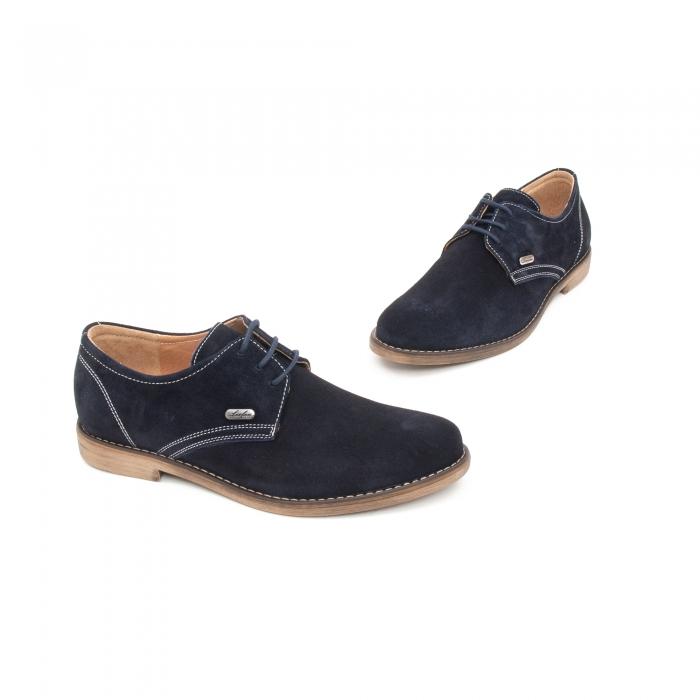 Pantof casual copii LFX 578 blue velur 1