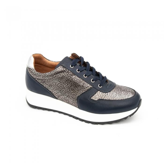 Pantof casual cu siret LFX 101 blue argintiu 0