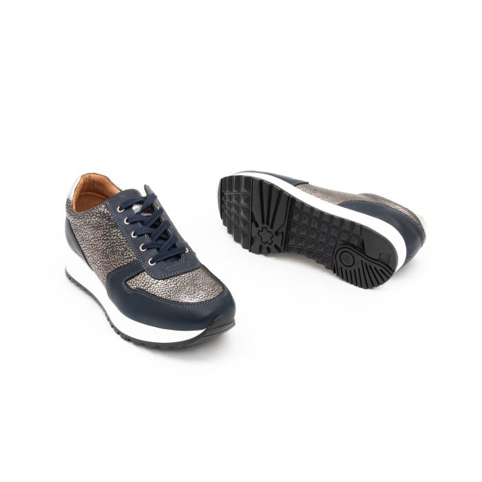 Pantof casual cu siret LFX 101 blue argintiu 2