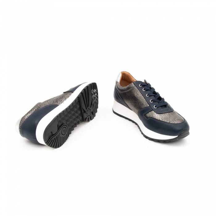 Pantof casual cu siret LFX 101 blue argintiu 3