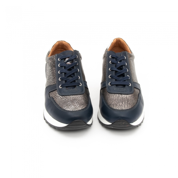 Pantof casual cu siret LFX 101 blue argintiu 5