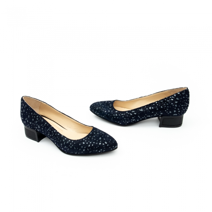 Pantof casual dama -cod 1010 bleumarin glitter