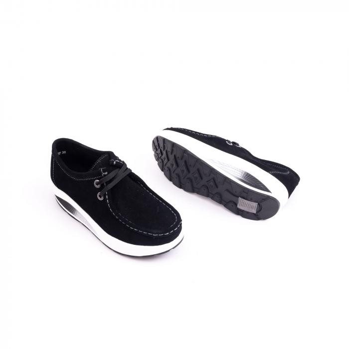 Pantof casual dama F003-1807 black suede