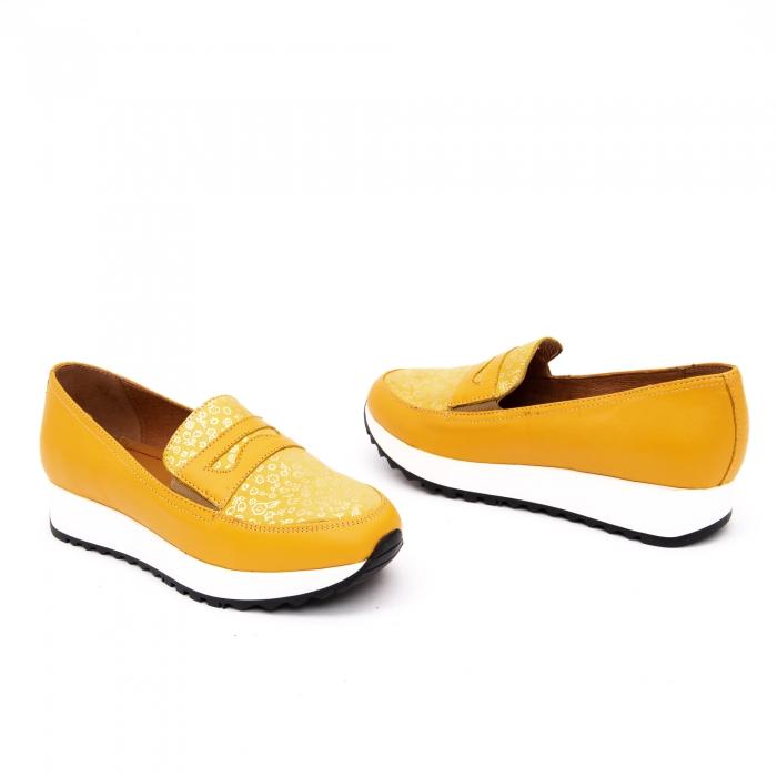 Pantof casual dama LFX 100 galben serigrafiat 2
