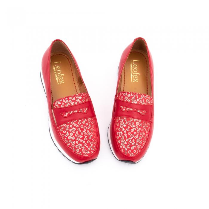 Pantof casual dama LFX 100 roze-rosu  semigrafiat 4