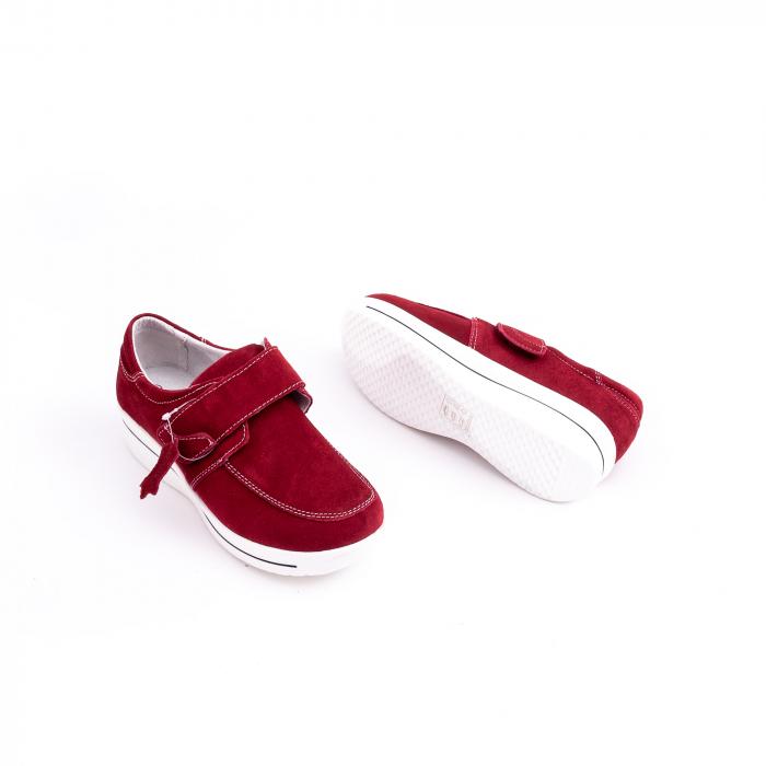 Pantof casual dama marca Angel Blue F002-56 burgundy suede 3