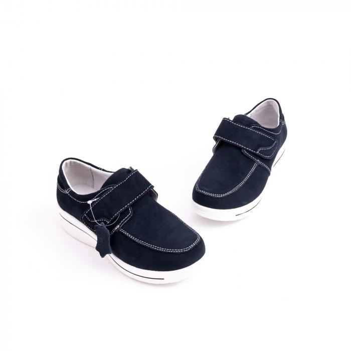 Pantof casual  Angel Blue F002-56 navy suede