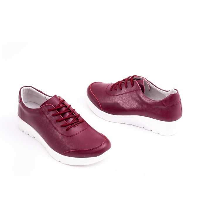 Pantof casual  Angel Blue VK-F001-442 burgundy leather 1