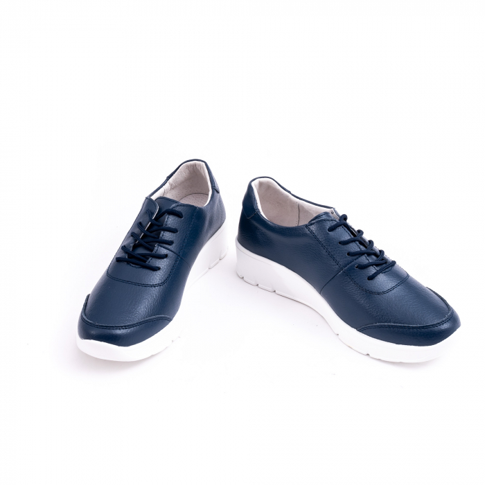 Pantof casual Angel Blue VK-F001-442 navy leather