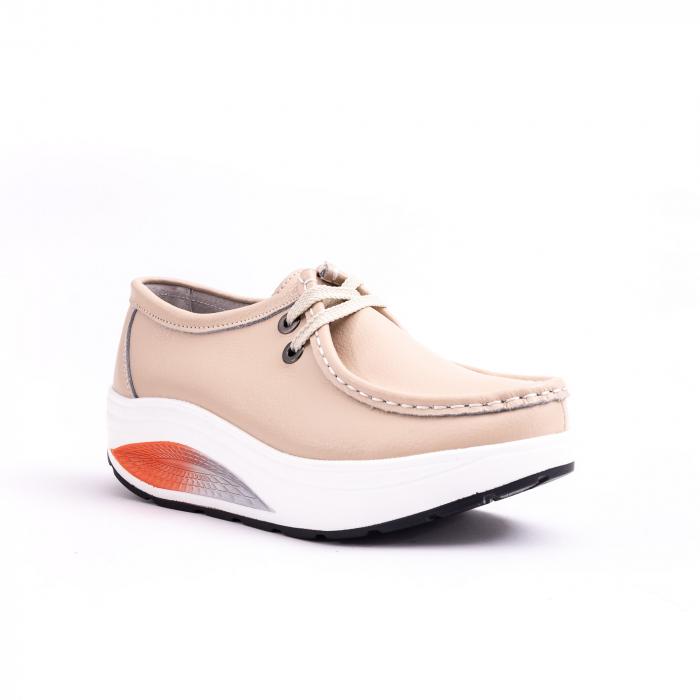 Pantof casual F003-1807 bej