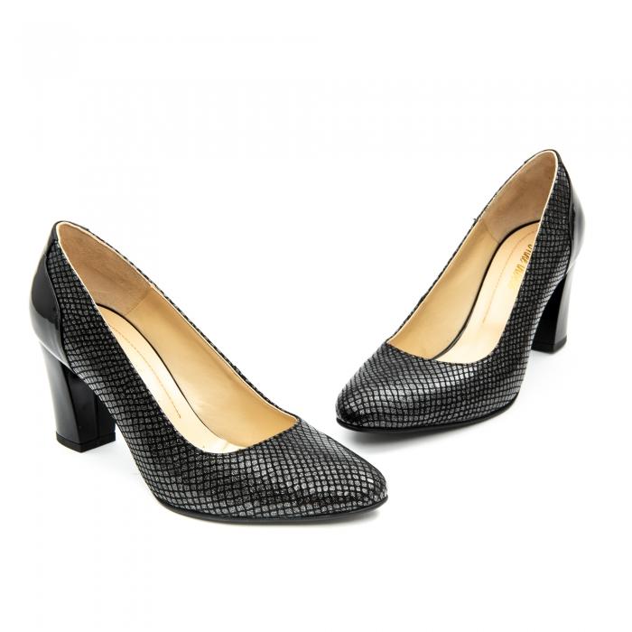 Pantofi dama eleganti piele naturala Nike Invest 953, negru 3