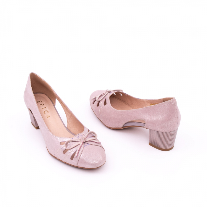Pantofi dama decupati piele naturala Epica jyh363, nude