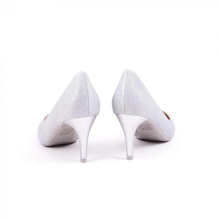Pantof elegant 658 argintiu 6