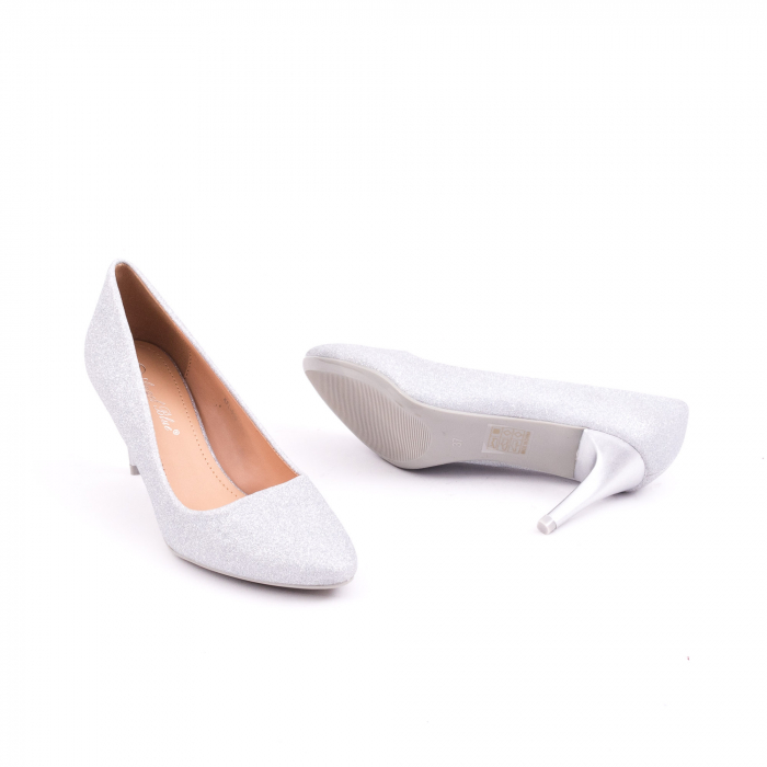 Pantof elegant 658 argintiu 2