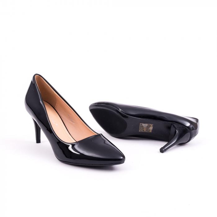 Pantof elegant 658 negru lac