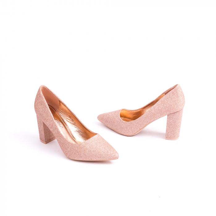 Pantof elegant 660 auriu-roze 3