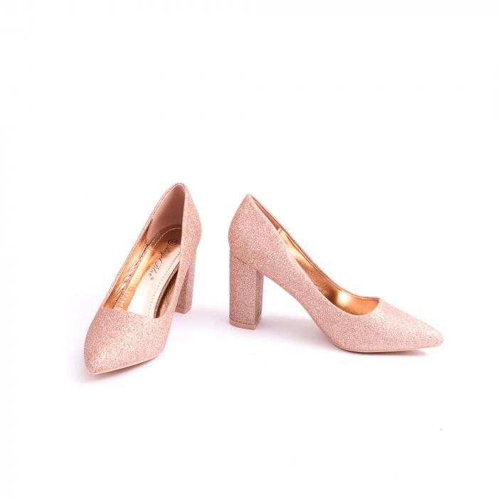 Pantof elegant 660 auriu-roze 4