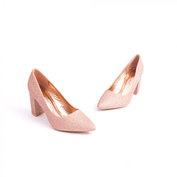Pantof elegant 660 auriu-roze 1