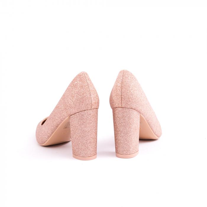 Pantof elegant 660 auriu-roze 6