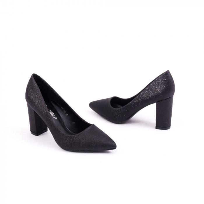 Pantof elegant 660 negru glitter