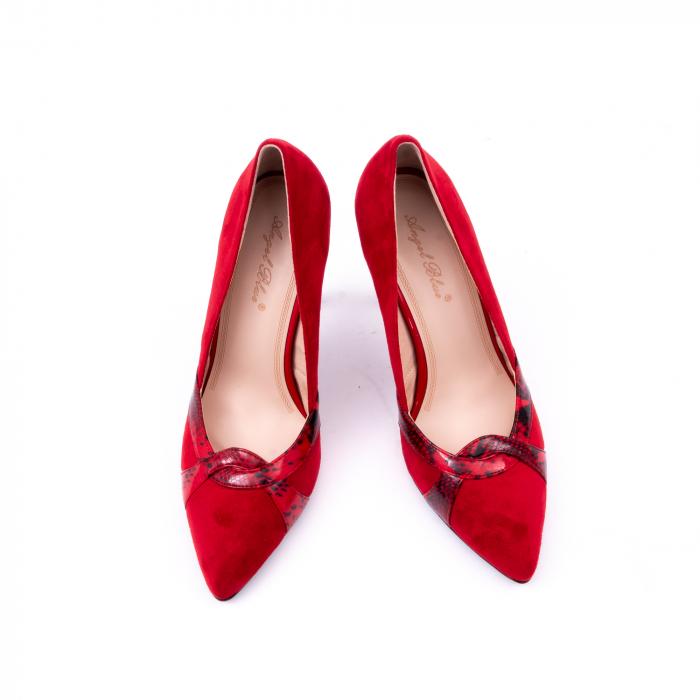 Pantof elegant dama 9511 rosu 5